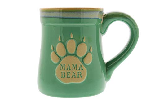 Mama Bear Ceramic Funny Coffee Mug, Nobody Messes with My Cubs, Large 18 oz Mug, Gifts for Mom