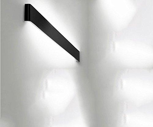 (Modern minimalist living room, wall lamps, creative personality, bedroom, bedside lighting, stairs, LED corridor corridor wall lamp,24cm black[Energy efficiency class A ++])