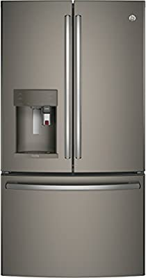 """GE Profile PYE22PMKES 36"""" Energy Star, ADA Compliant Counter Depth French Door Refrigerator with 22.2 cu. ft. Capacity, Slate"""