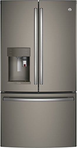 "GE Profile PYE22PMKES 36"" Energy Star, ADA Compliant Counter Depth French Door Refrigerator with 22.2 cu. ft. Capacity, Slate"