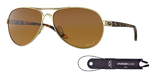 Oakley Feedback Oo4079 407911 59M Polished Gold/Brown Gradient, Brown, Size ()