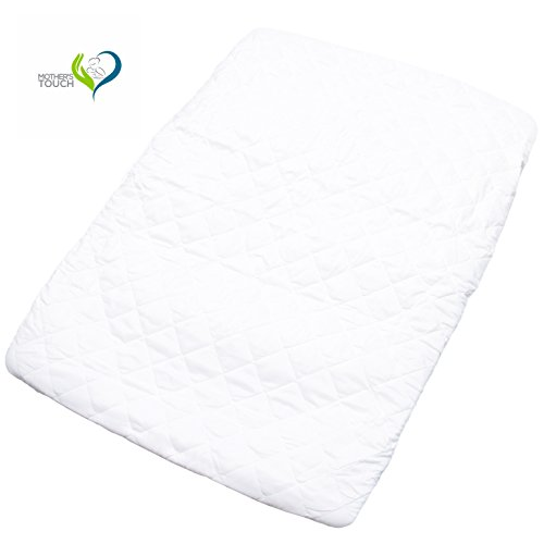 Mother's Touch Pack N Play Padded Crib Mattress Cover - Fits All Baby Portable Cribs, Play Yards and Foldable Mattresses - Waterproof, Dryer Safe and Hypoallergenic by Mother's Touch