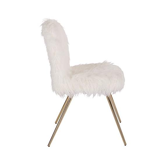 Ave Six JLA-F42 Julia Faux Fur Teen Accent Chair, White - Chic design Plush faux fur Sturdy metal legs - living-room-furniture, living-room, accent-chairs - 319WNdKGMBL. SS570  -
