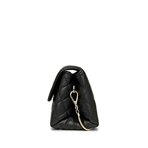 chaîne à avec pour taille sac métal en de en femme Ciffost bandoulière femme rétro Sac noir à petite pour blanc main bandoulière cuir véritable AHCqH