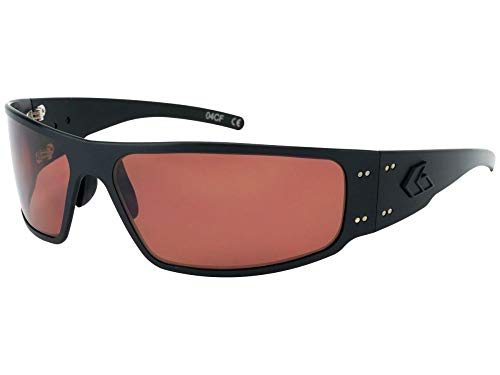 Gatorz Eyewear, Magnum Model, Aluminum Frame Sunglasses - Blackout Tactical Style/Rose Polarized Lens