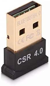 محول دونغل بطلاء ذهبي مايكرو بلوتوث 4.0 يو اس بي، متوافق مع انظمة تشغيل ويندوز 10،8.1/ 8،7، فيستا، اكس بي، 32/64 بتلاجهزة الكمبيوتر واللاب توب