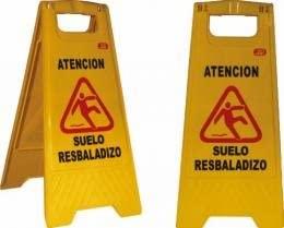 Jar - Cartel atención suelo resbaladizo 60x21: Amazon.es ...