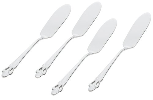 Ginkgo International Fleur de Lis Stainless Steel Butter Spreaders, Set of 4 by Ginkgo International