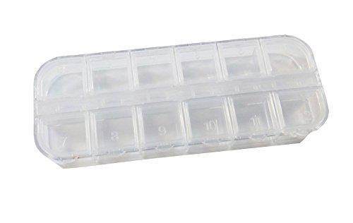 Perle Box gioielli box Best 1STK porta-accessori ognuno con 12scomparti scatola di raccolta B13 Perlin B013