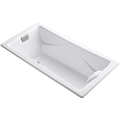 KOHLER 863-0 K-863-0 Tea-for-Two 6-Foot Bath, White, 60 Or More ()