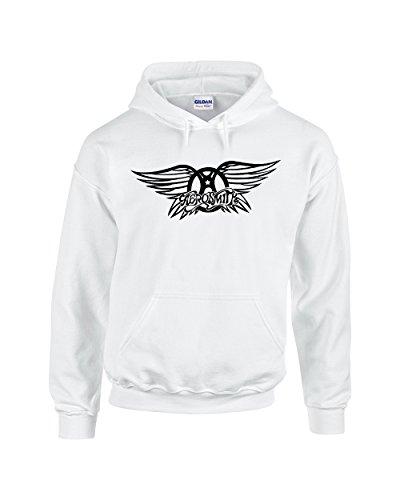 Aerosmith Hoodie   Hard Rock Design   Mens White Medium