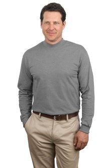 Pullover Mock Turtleneck (Port & Company Men's Mock Turtleneck - Large - Athletic Heather*)