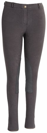 TuffRider Women's Starter Lowrise Pull-On Breech, Dark Charcoal, 24