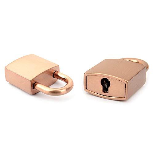 Lock and Key(ver.3-Round Key), Working Lock , Mini Lock, Small Padlock, Padlock, Padlock and Key Leather craft tools MLT-P0000BWK