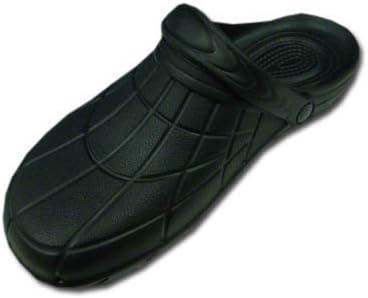 作業用 サンダル 軽量 滑り止め カルカル仕事人 HM9050 穴なし 作業靴 ブラック(カラー L(25.5~26.0))