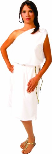Alexanders Costumes Roman Toga, White, One Size