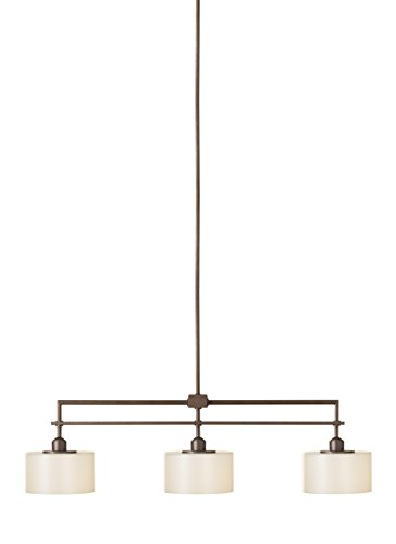 Feiss F2402 3CB Sunset Drive Linear Pendant Island Lighting, Bronze, 3-Light 40 L x 12 H 300watts