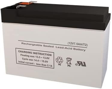 RB1270-F2 12 Volt 7.5 AmpH SLA Replacement Battery with F2 Terminal