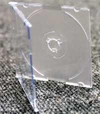 25 caja de CD/DVD transparente 8 cm estuches de joyería: Amazon ...
