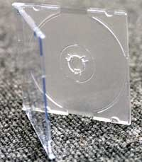 25 caja de CD/DVD transparente 8 cm estuches de joyería ...