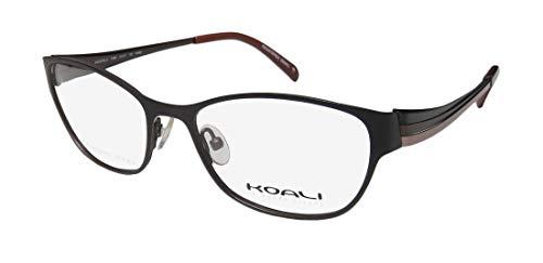 (Koali By Morel 7499k For Ladies/Women Cat Eye Full-Rim Shape Stainless Steel Stunning Eyeglasses/Eye Glasses (51-17-130, Black/Brown / Blush))