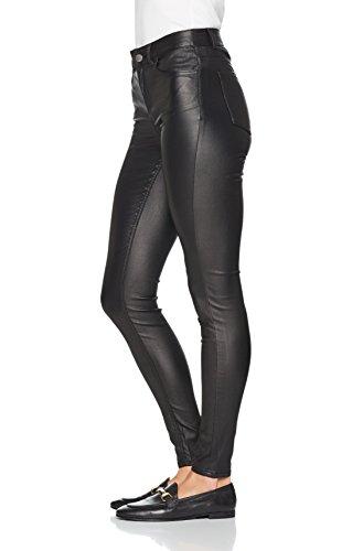 Jns Tb Nero Blk Jeans Pieces Coated Skn Donna Mw Pcfive black noos Skinny wWgTIqaRf