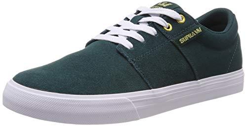 Supra Unisex Adults' Stacks Vulc Ii Low-Top Sneakers, Green (Evergreen-White 320) 7.5 ()
