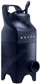 (Savio Water Master Solids Handling Pump-1450 GPH, Model# WMS1450 Pond Pump, Black)