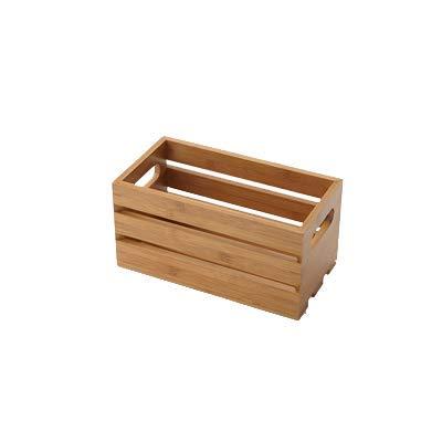 American Metalcraft WTBA12 Wooden Crate, Bamboo, 12''
