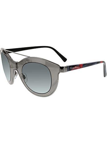 Giorgio Armani Women's AR6033-301087-39 Silver Shield Sunglasses