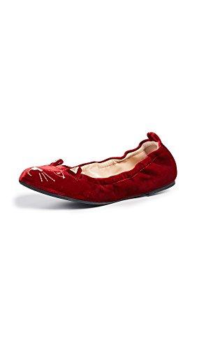 charlotte olympia Women's Kitty Flats, Red, 39.5 M IT