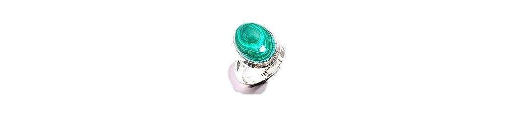 mughal gems /& jewellery 925 Sterling Silver Ring Natural Malachite Gemstone Fine Jewelry Ring for Women /& Girls Size 7.5 U.S
