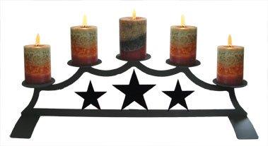 28 Inch Star Fireplace Pillar Candle (Star Fireplace Pillar)