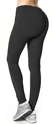 RUNNING GIRL Butt Lifting Leggings,Scrunch Butt Shaperwear Compression Leggings Workout Yoga Pants for Women (XX-Large, Butt Lift Black) (Leggings Rubber)