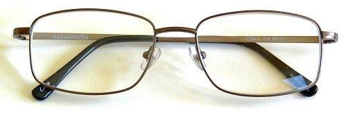 (+ BONUS) Foster Grant +2.50 TITANIUM (T10) Rectangular Gunmetal Wire Rim Reading Glasses...+ FREE BONUS MICRO-SUEDE CLEANING CLOTH