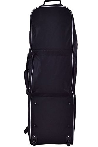 K&A Company Golf Bag Foldable Travel Cover Wheel Black Outdoor Club Oxford Carrying Case Durable Cloth by K&A Company (Image #3)