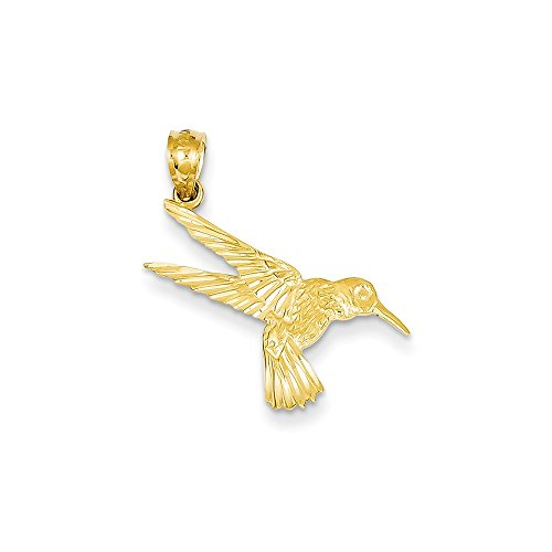 14k Gold Hummingbird Pendant (0.98 in x 0.51 in) 14k Yellow Gold Hummingbird Charm