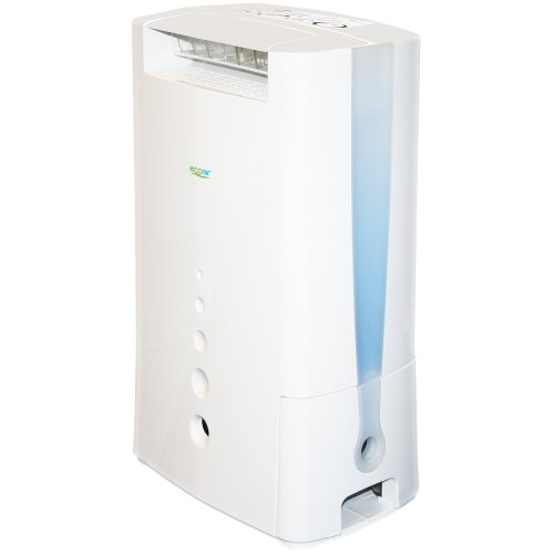 EcoAir DD128 Desiccant Dehumidifier with Ioniser and Silver Filter, 8 L -...