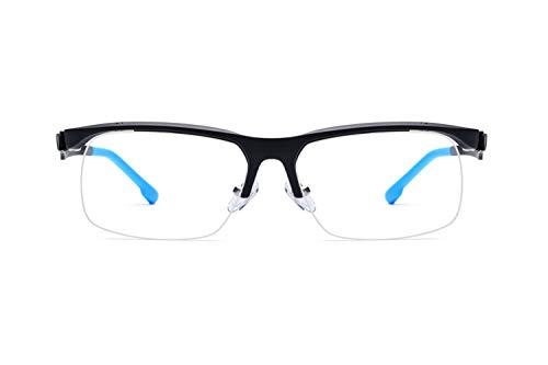 - Outdoor Sports Riding Non-slip Glasses Frames TR90 Half Frame Optical Glasses Unisex,Blue-M