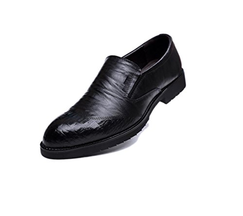 Casual Punta Morbido A in Colore Uomo Black Scarpe Pelle Sportivi Tela Stivali Nastro Affari Stagione Sandali Tondo HcfrHwAqp