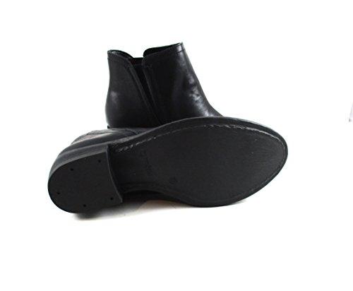Stivaletto Donna, Stivale Donna, Stivale ecopelle, colore nero, Tacco comodo, Forma comoda, Forma Rotodna, Desing ItalianoFG729