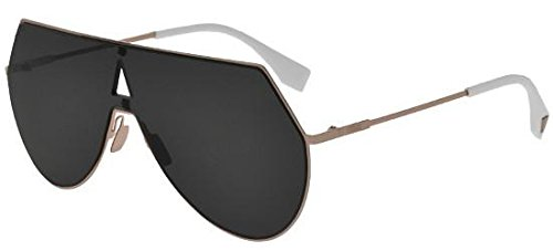 Fendi FF0193/S 0DDB Gold Copper Aviator Sunglasses