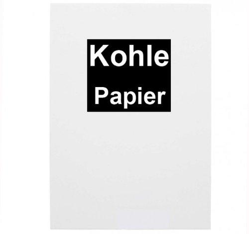 100x Kohlepapier A4 schwarzes Durchschreibepapier