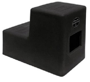 High Country Plastics MS-19AG Two Mounting Step, Medium/19, Ash - Block Mounting