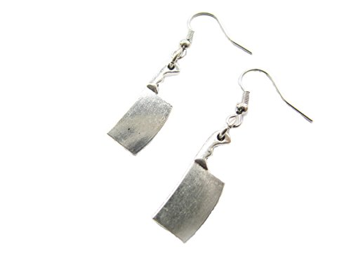 Butcher Knife Dangle Earrings,meat Cleaver Knife,chopper Knife,zombie Weapon,funny Horror Scary Geeky (Zombie Chef compare prices)