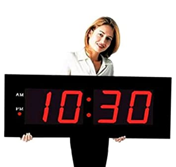 Amazoncom Large Digital LED Clock Giant 8 Numeral Red LED