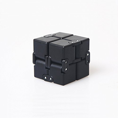 Fidget spinning Cube in Style With Infinity Fidget Cube Stress Relief and Anxiety Toy for children and(Black)
