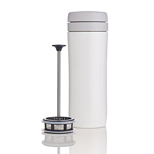 Espro Junkets Tea Press, Stainless Steel, 12 oz (Tea Filter, Bright White)