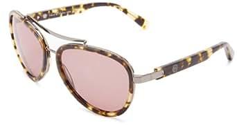 House of Harlow Women'S Lynn Iridium Oversized Sunglasses,Leopard Frame/Black Gradient Lens,One Size
