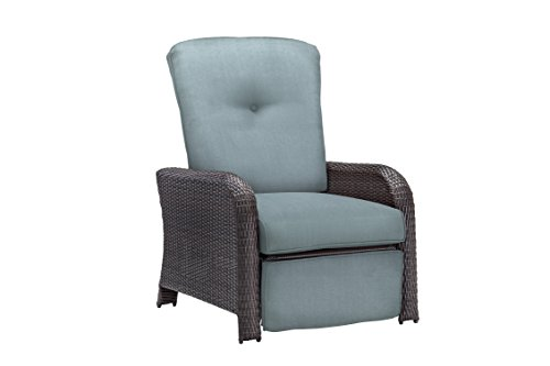 Hanover Outdoor Strathmere Luxury Recliner, Ocean Blue by Hanover